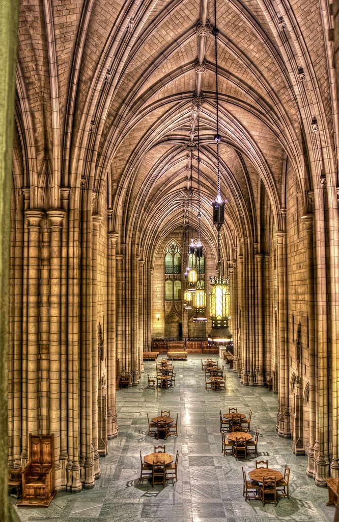 A Second Floor View Of The Cathedral Of Learning On The Ca