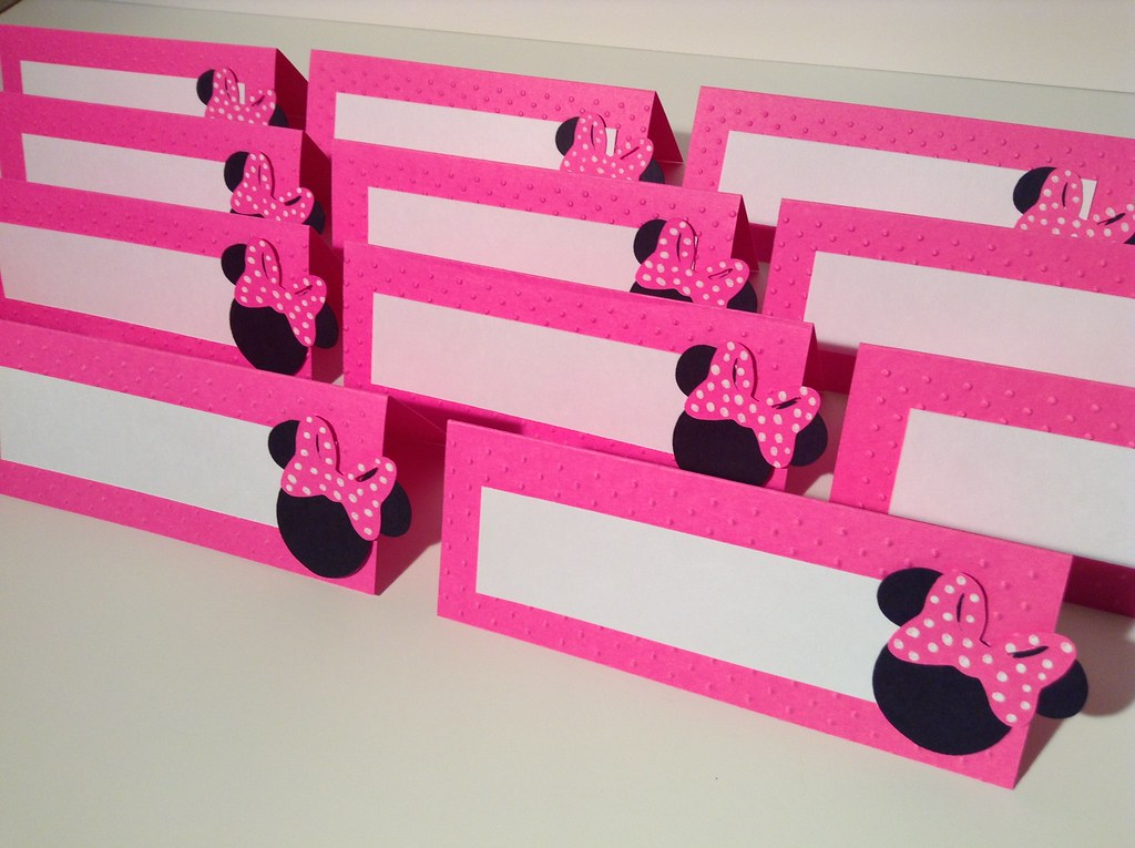 Alishakaydesigns Minnie Mouse Food Labels Buffet Tents And Mickey Birthday Party Decorations