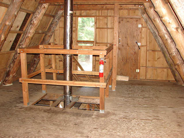 Inside the Hemlock Butte Cabin