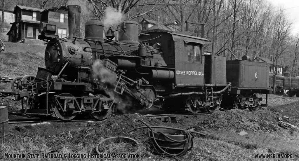 Moore Keppel Co Climax No 6 In Steam Long Before The
