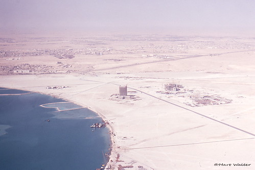 Qatar, approaching Doha by air, Oct 1977 c | by Hart Walter