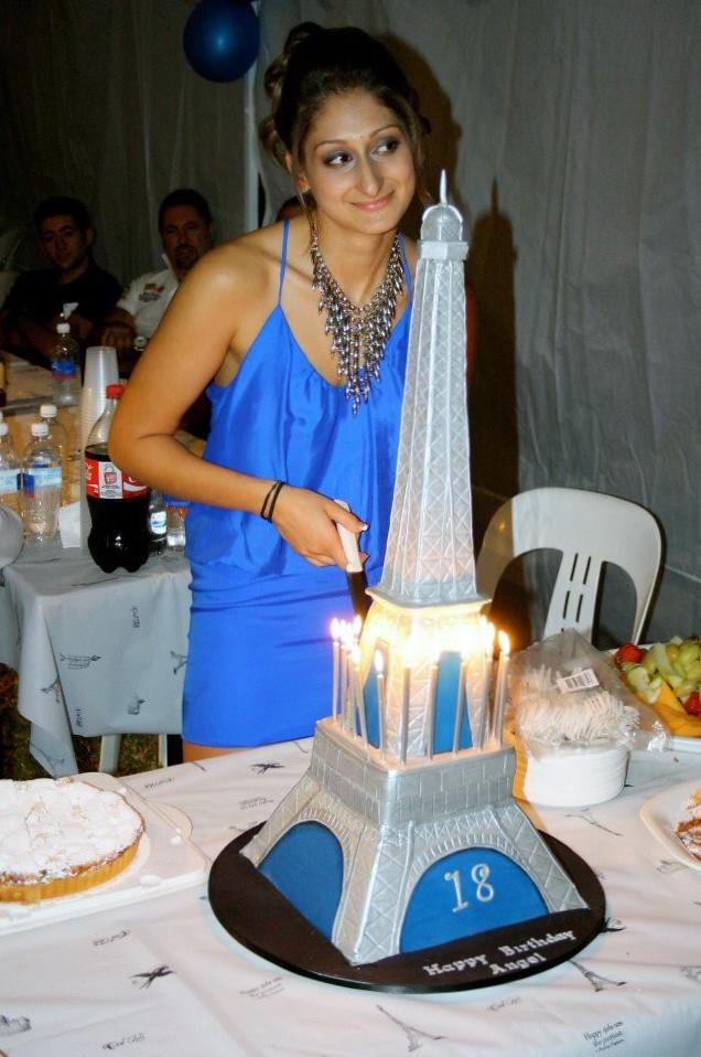 Eiffel Tower Birthday Cake Wishing Angel A Happy 18th Birt Flickr