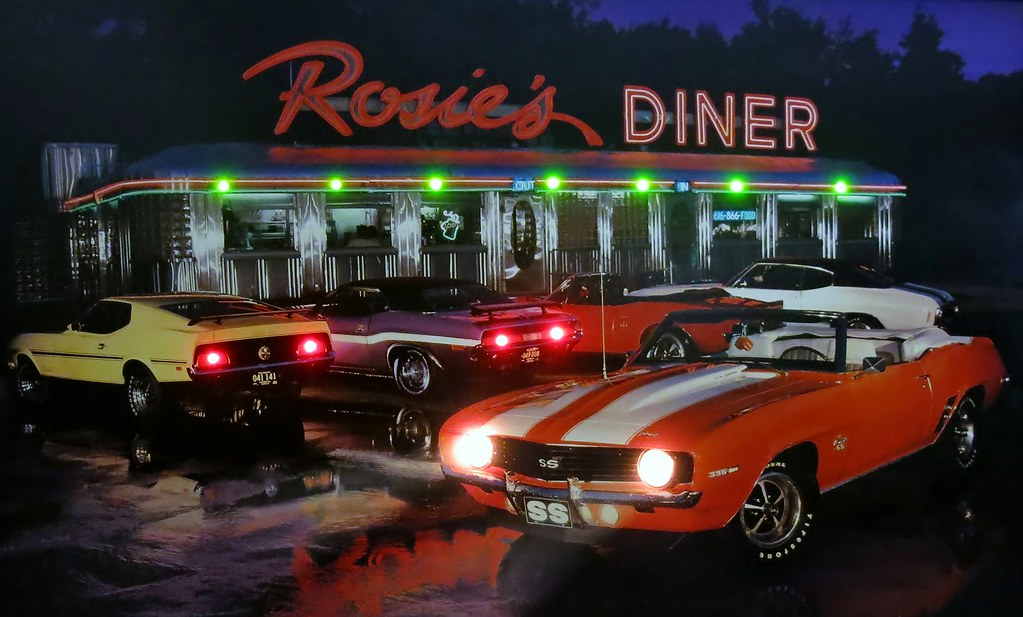 "Classic ""ROSIE'S DINER"" Framed Light-Up Picture (with LED ..."