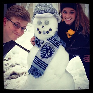 Happy snow day! #bluemoon #sportingKC #snowman | by SportingKC