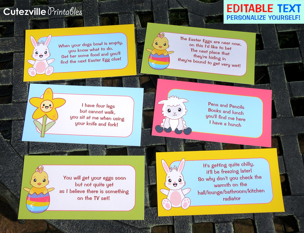 Printable Easter Egg Hunt Decorations Garden Kit PDF With ...