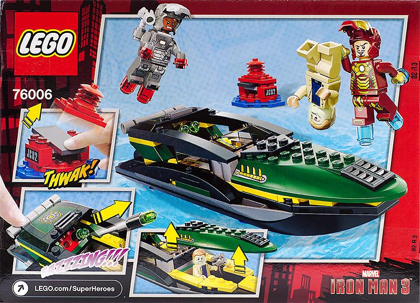 Lego Iron Man 3 Box Cover Back Lego 76006 Iron Man 3