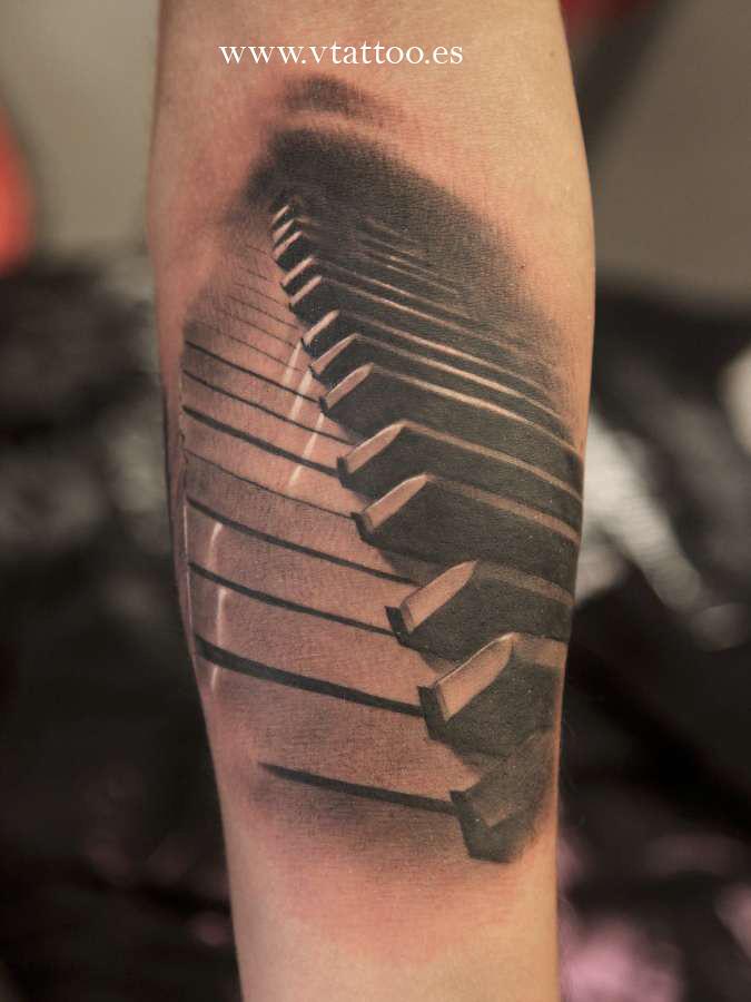 piano tattoo miguel bohigues flickr. Black Bedroom Furniture Sets. Home Design Ideas