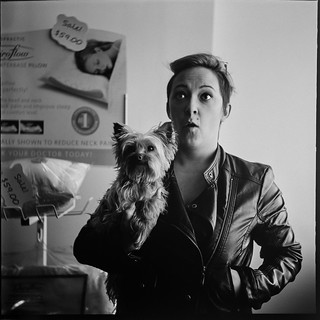 Yashica A: Ashley and the worlds most awesome dog