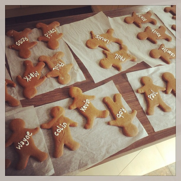 Gingerbread Men And Women Favours/name Cards #wedding #reb