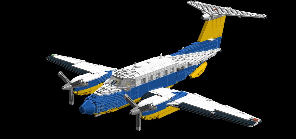 Lego Airplane King Air 2 Without Winglets Duel Tail