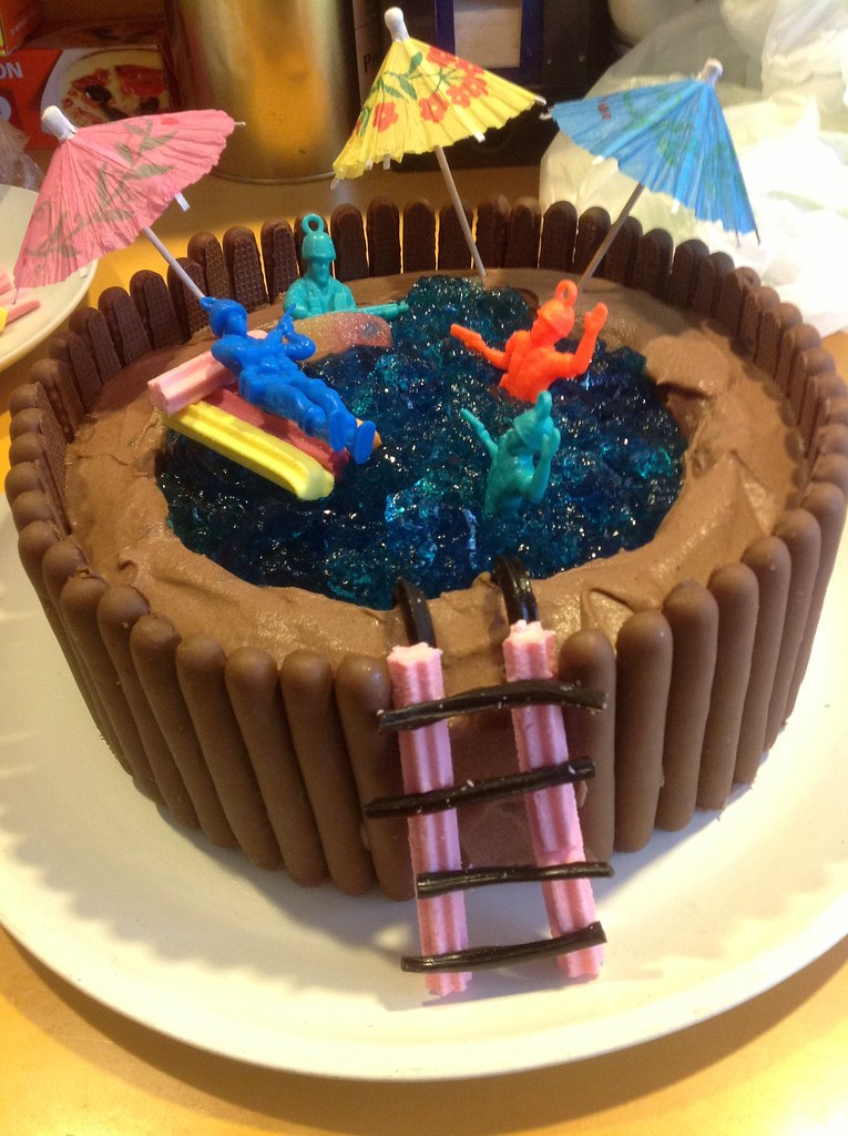 Womens Weekly Swimming Pool Cake Alison Read Flickr