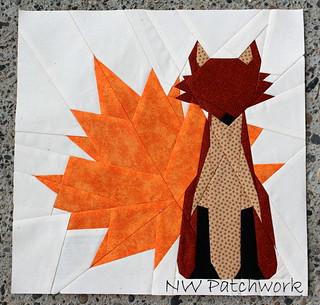 block #4-- Maple & Red Fox | by nwpatchwork