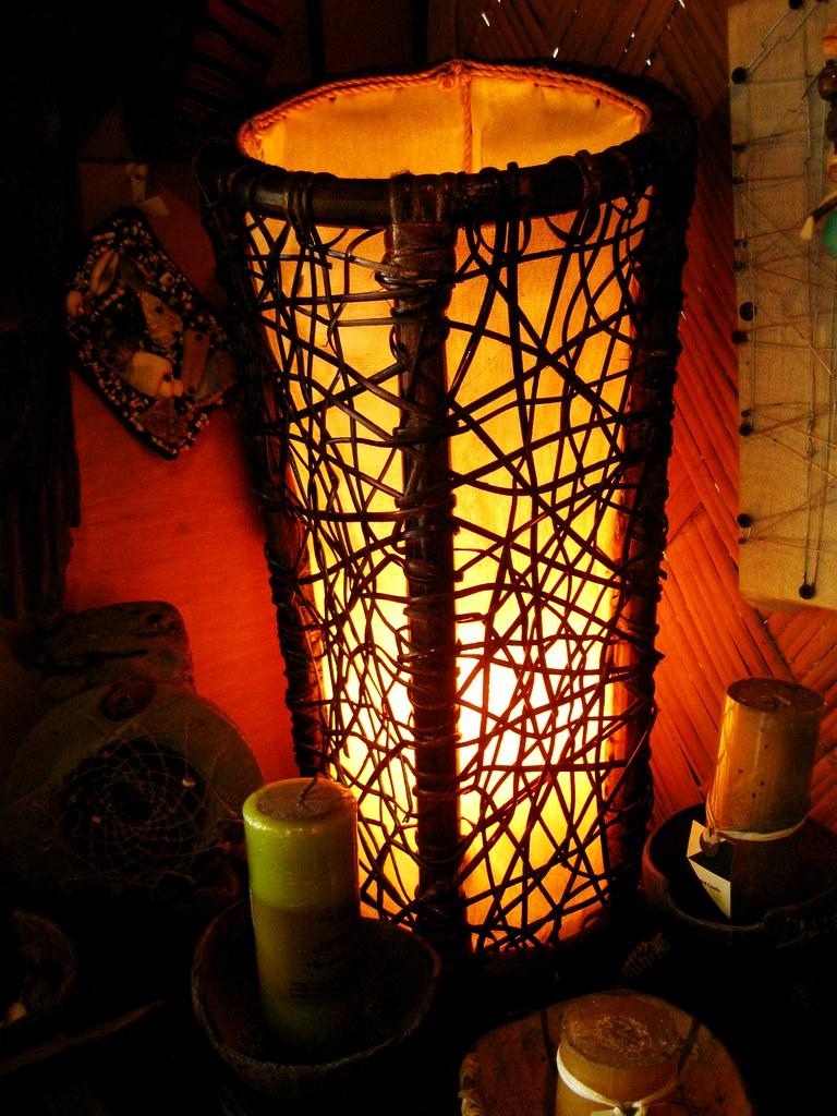 Rattan weaved lamp shade kaingud flickr rattan weaved lamp shade by kaingud mozeypictures Images