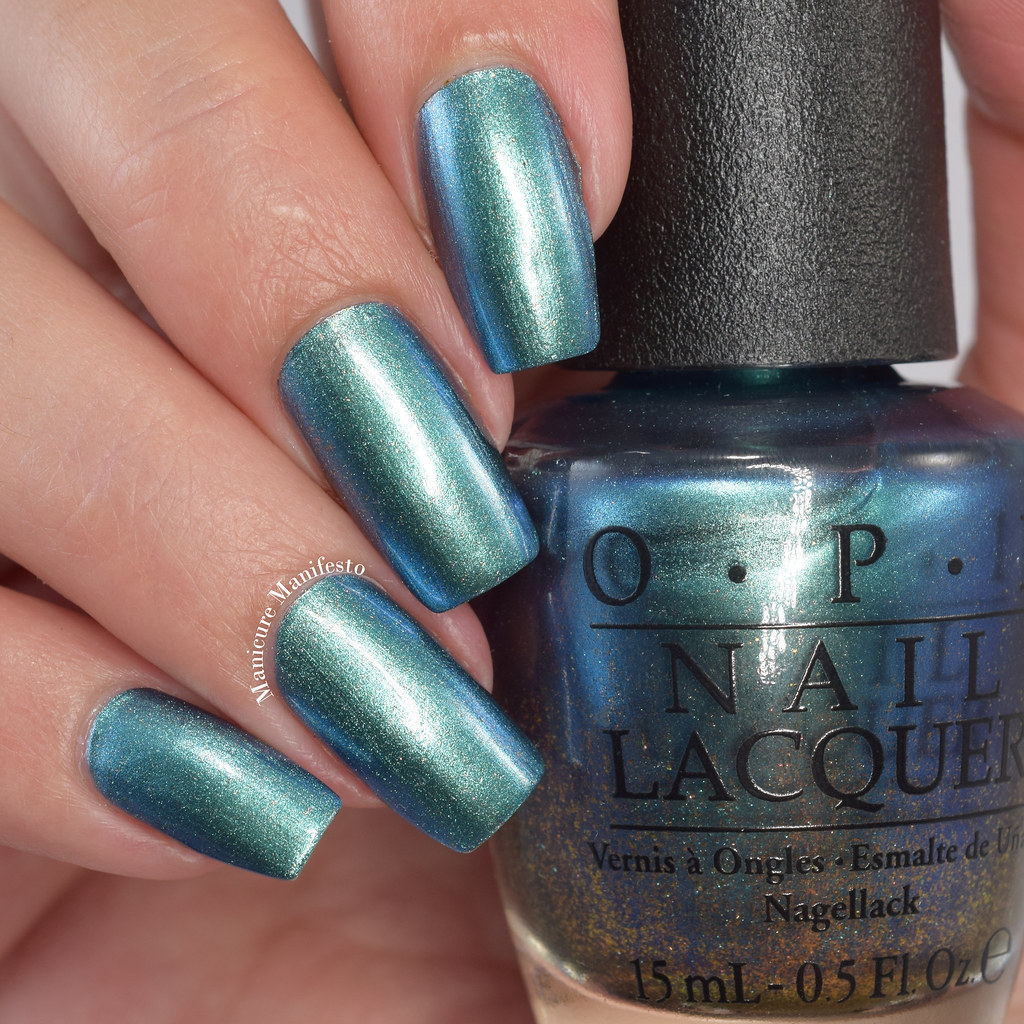 OPI metallic teal