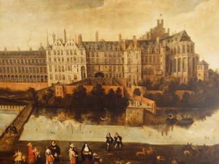 Pintura del Palacio de Coudenberg en Bruselas (Palacio de Carlos V)