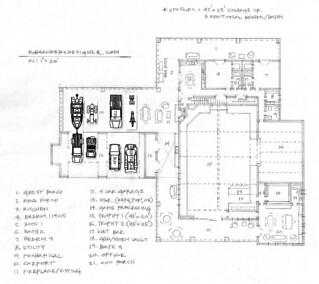 Hunting lodge floor plan hunting lodge trophy rooms for Hunting lodge floor plans
