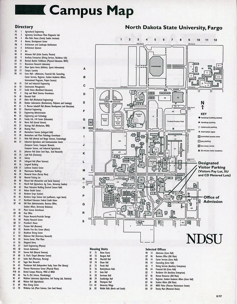 North Dakota State University Campus Map 1997  North