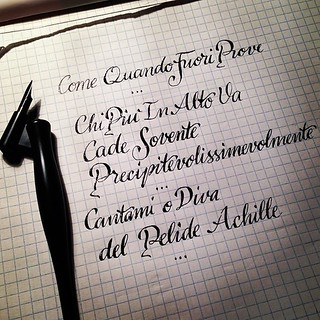 Cantami o diva del pelide achille copperplate pen scrip flickr - Parafrasi cantami o diva ...