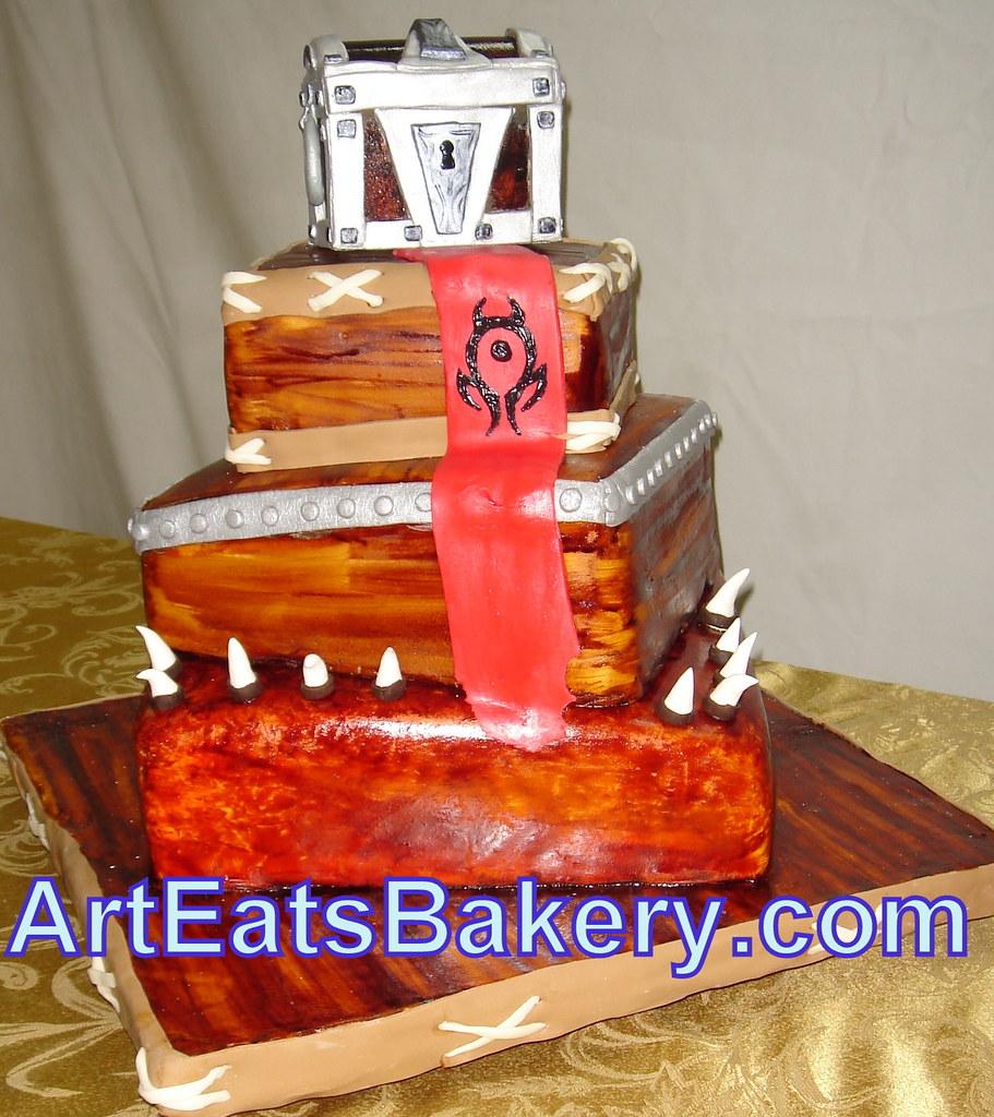 World Of Warcraft Unique Modern Custom Wedding Cake With H
