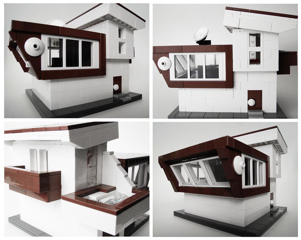 Mini modern residence just a quick build sebastian z for Modernes lego haus