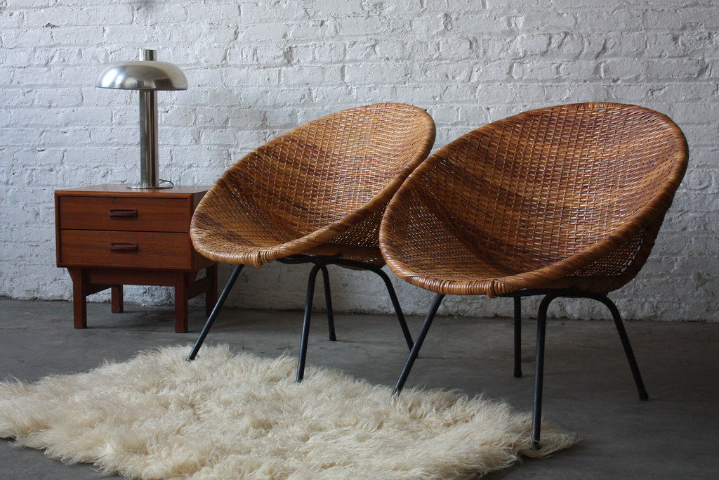 classic mid century modern woven hoop chairs 1950s flickr - Mid Century Modern Furniture Of The 1950s