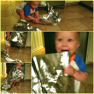 May not be age appropriate but Rhys had some vendetta against the foil tonight. I couldn't stop him. | by gavoweb