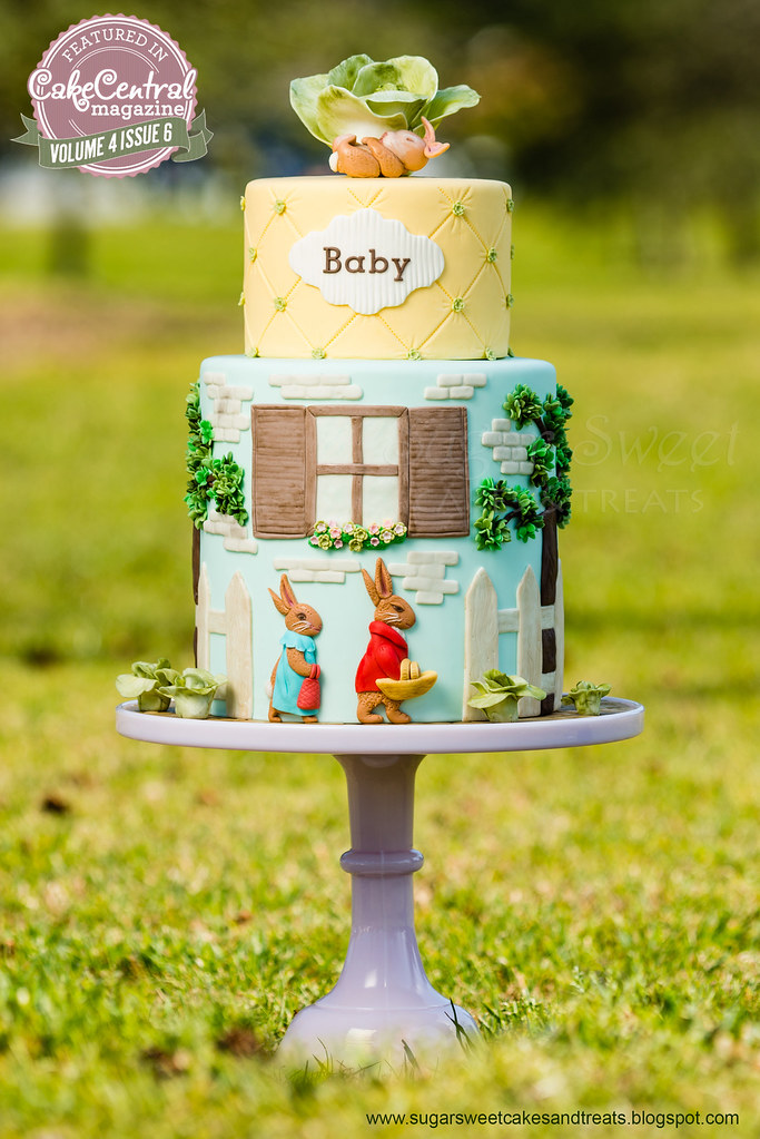 A Tale Of The Flopsy Bunny Baby Shower Cake Beatrix Potte