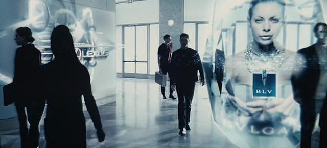 Realidad aumentada en una escena de la película Minority Report