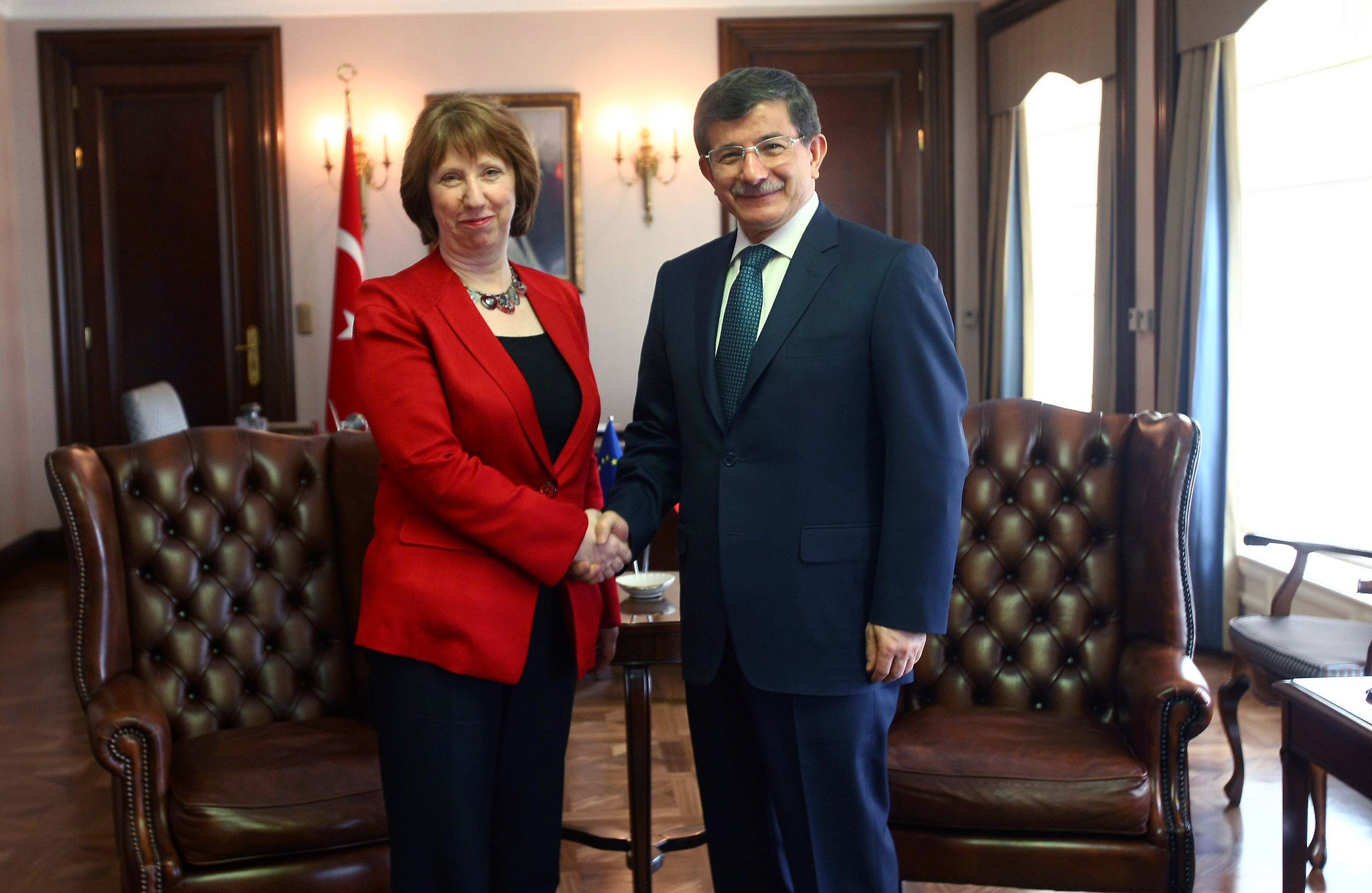 Catherine Ashton & Foreign Minister of Turkey Ahmet Davutoğlu