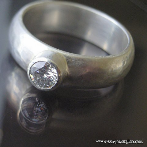 Recycled harmony ring | by Glasswing Jewellery