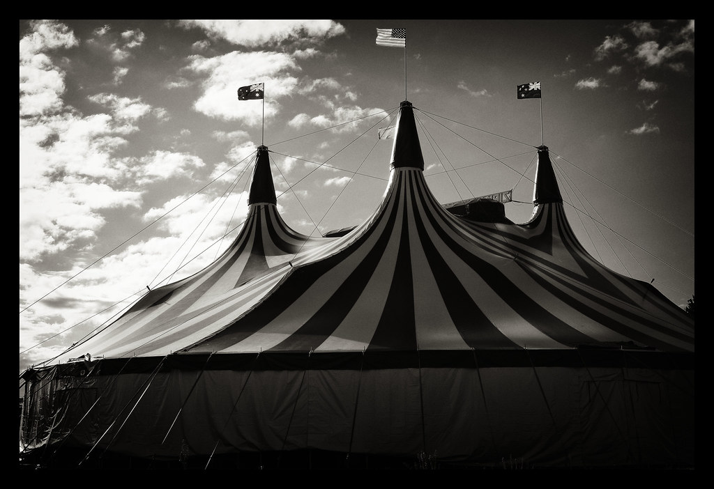 The gallery for --> Vintage Circus Tent Black And White
