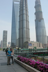 Posing by SWFC, Jin Mao Tower, Shanghai Tower