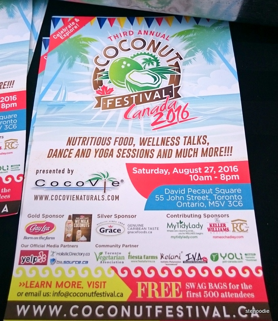 Coconut Festival 2016 flyer