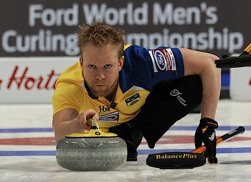 Victoria B.C.April 7,2013.Ford Men's World Curling Championship.Sweden skip Niklas Edin.CCA/michael burns photo | by seasonofchampions
