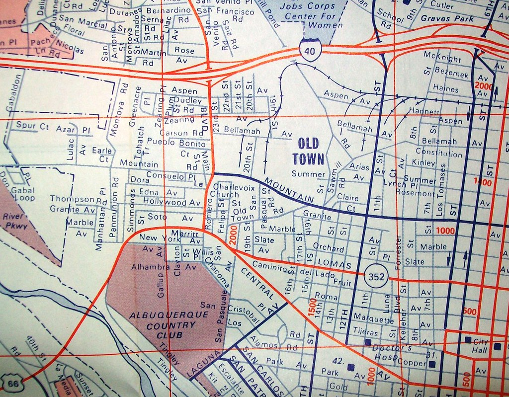 Albuquerque NM 1972 Map by Arrow Map Co davecito Flickr