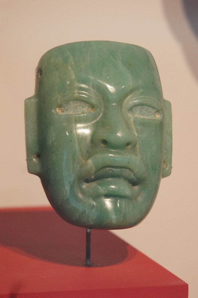 Olmec Jade mask Villahermosa museum of anthropology | Flickr