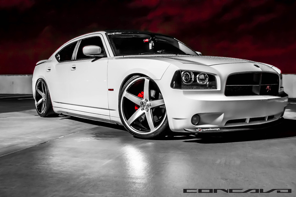 Dodge Charger Lowered On 22 Quot Cw 5 Matte Black Machined Fac