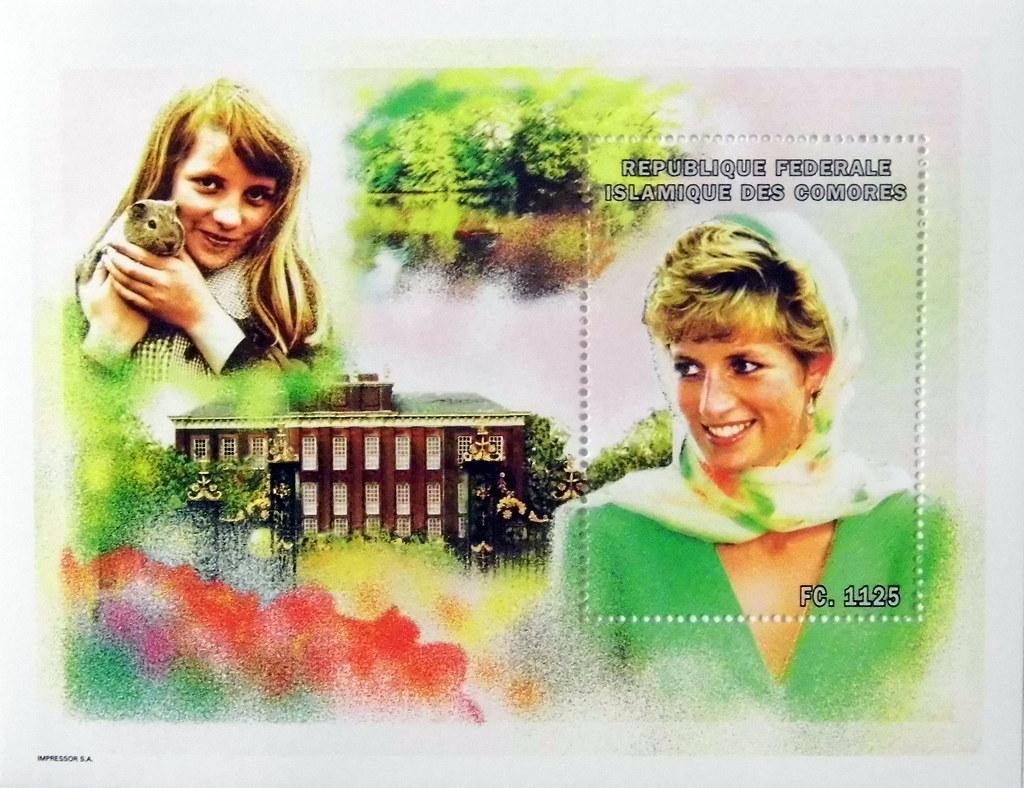 Princess Diana Childhood Home Commemorative Stamp Sheet