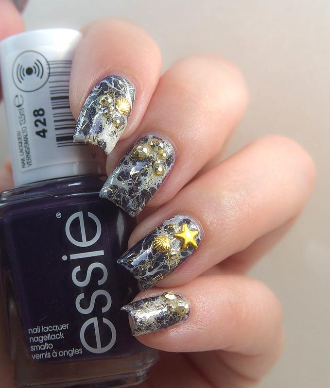essie kimono-over nail art