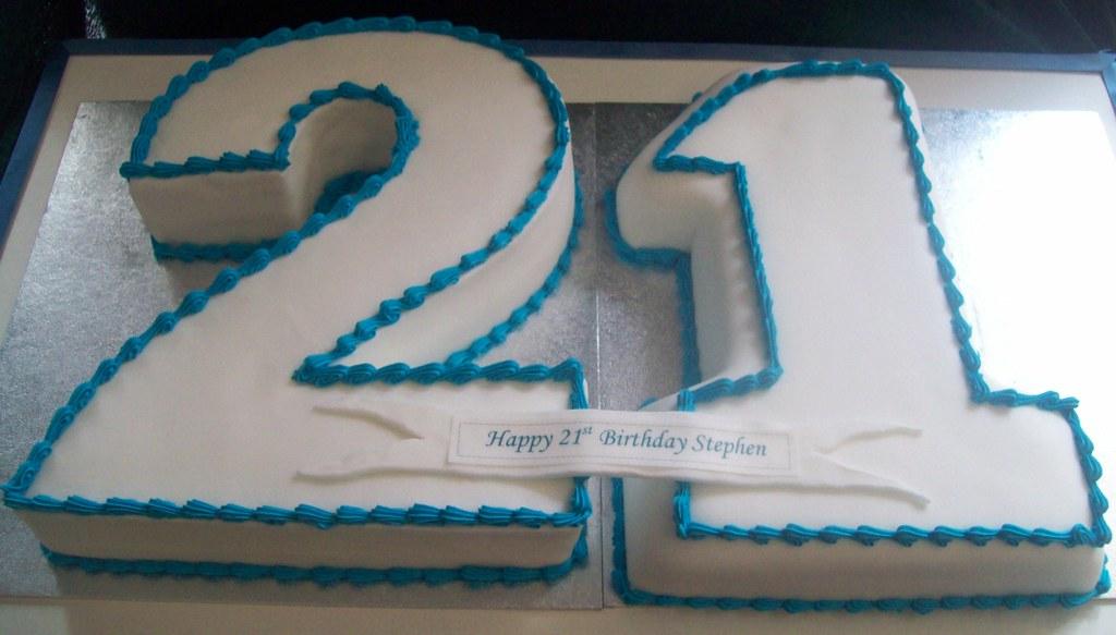 21st Birthday Cake Boy Man Male Numerals Reids Highland Fare Flickr
