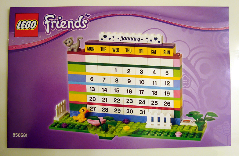 Lego Friends Brick Calendar Review 850581 Calendar Instruc Flickr