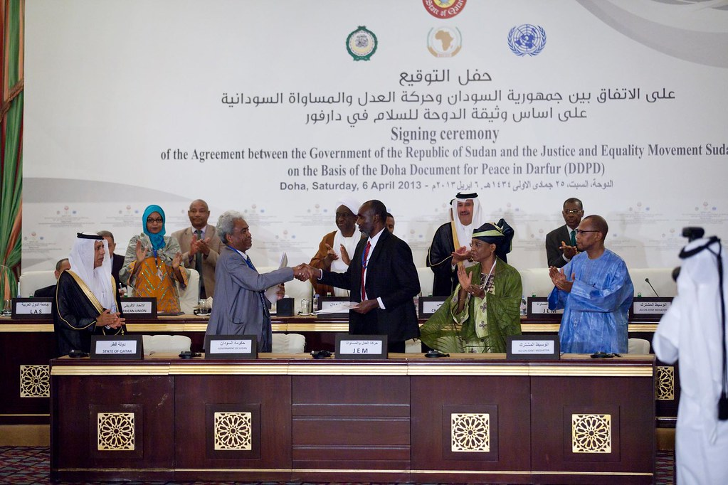 Jem Signes The Peace Agreement 6 April 2013 Doha Left To Flickr