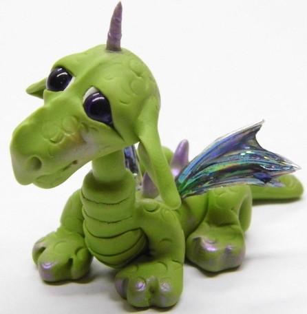 Ooak handmade polymer clay woodland baby dragon quot binzy quot fa flickr