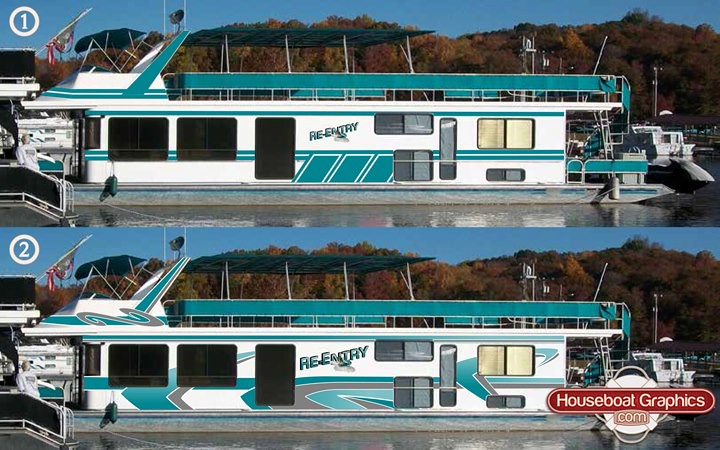 Houseboatgraphicsboatstripesdecalsname Houseboatgraph Flickr - Houseboat decals