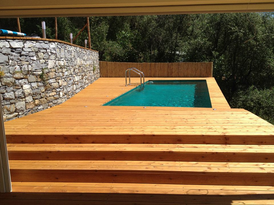 Dv gold deck legno 1 piscina laghetto dolcevita gold con for Piscine laghetto