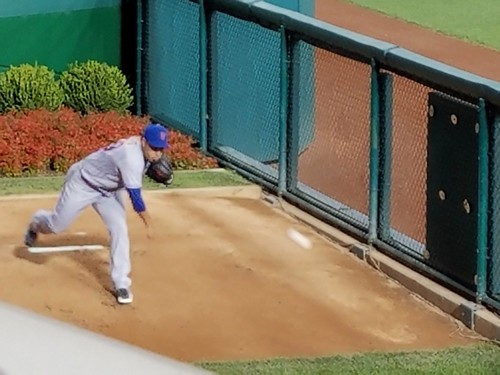 Fernando Salas Warms up for the Mets