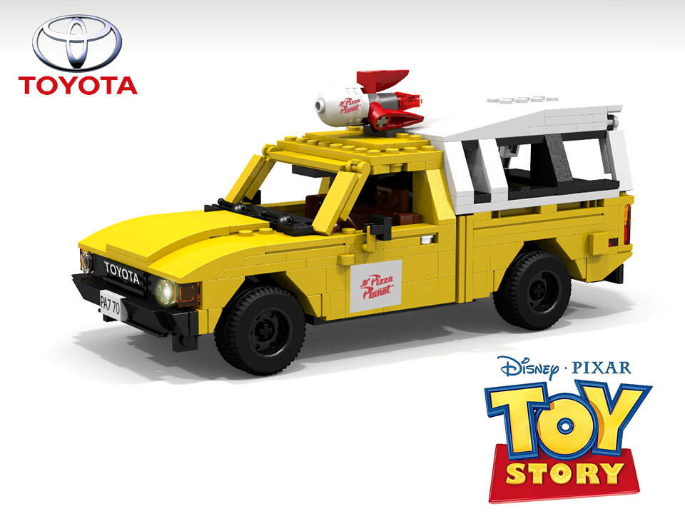 Toy Pizza Delivery Car 76