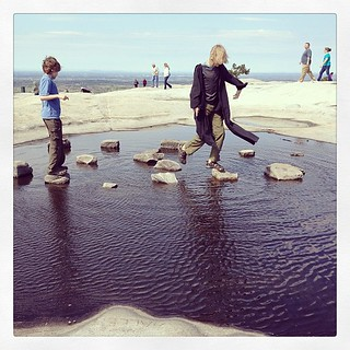 Props to whoever made this fun little puddle obstacle on top of Stone Mountain! | by valinreallife