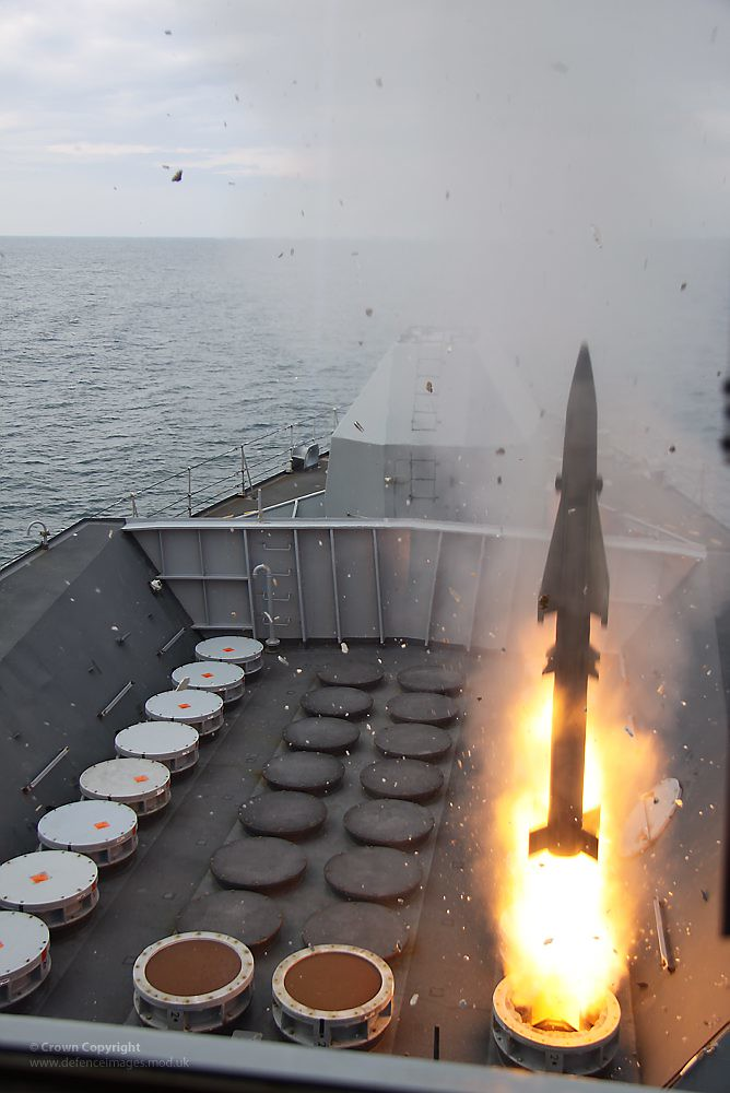 Sea Wolf Missile Firing A Vertical Launch Sea Wolf