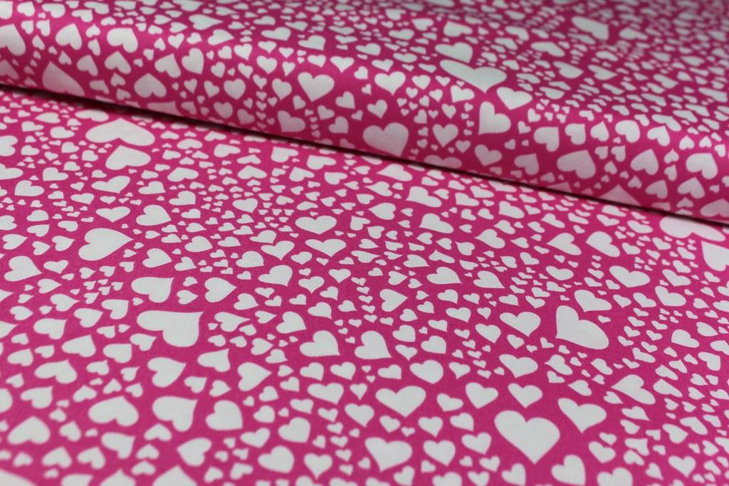 """Baumwollstoff """"Zillion hearts"""", pink"""